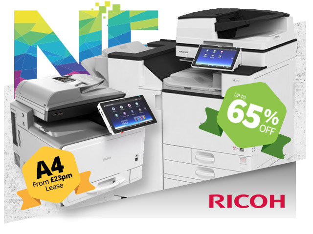 ricoh up to 65 percent off copiers